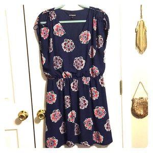 Floral peek-a-boo dress